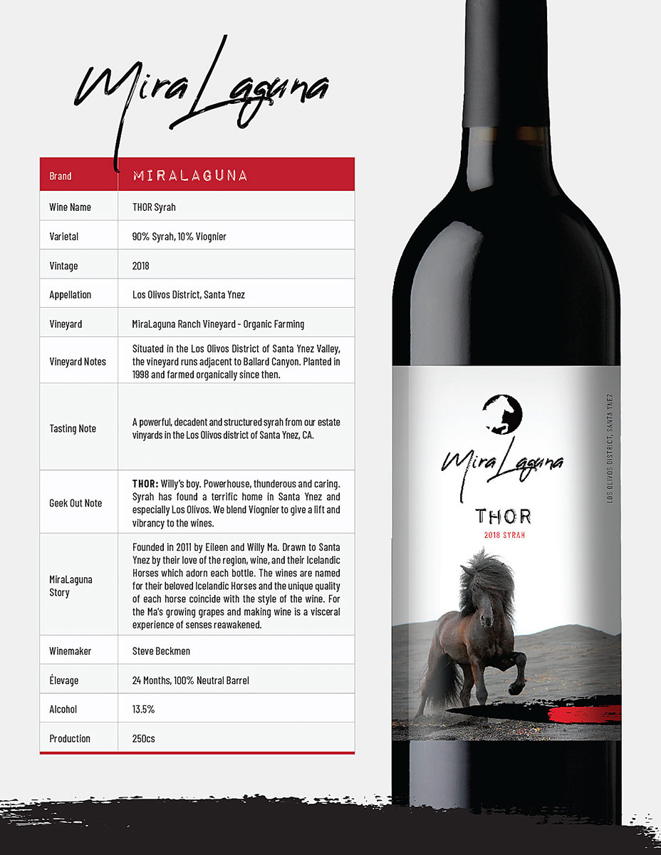 2018 THOR Syrah Tech Sheet