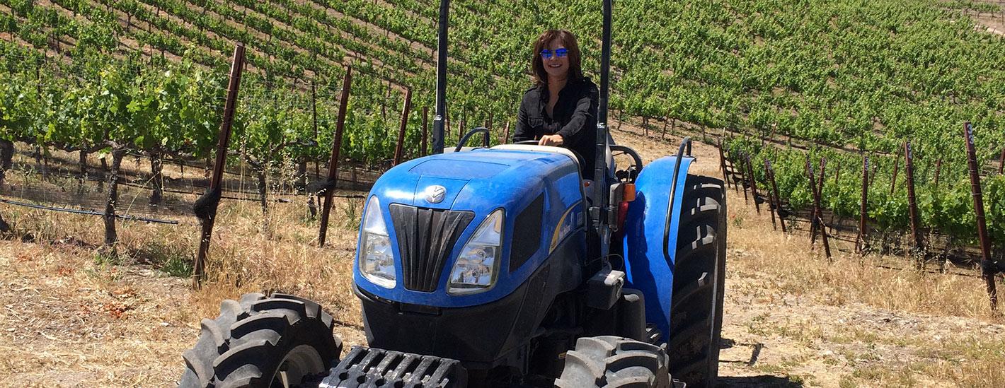 Eileen Riding Tracktor